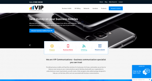 VIP Communications Website Revamp Feature Image